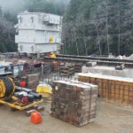 Transformer and eHouse Move in Narrows Inlet, BC